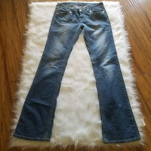 Royal Blue Extra Long Boot Cut Jeans Tall Size 11